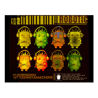 Techno Robot Postcard