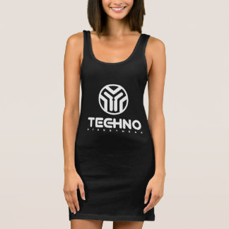 Techno Streetwear - Logo - Womens Tank Dress