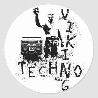 Techno Viking Classic Round Sticker