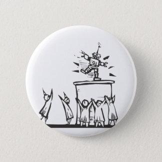 Techno-Worship 6 Cm Round Badge