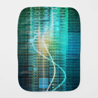 Technology Concept with Online Media Abstract Art Burp Cloth