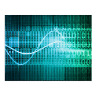 Technology Concept with Online Media Abstract Art Postcard