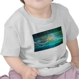 Technology Concept with Online Media Abstract Art Tees