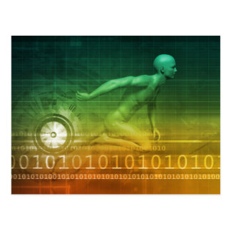 Technology Evolution with Man Evolving with System Postcard