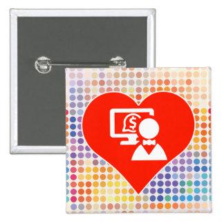 Technology Icon 15 Cm Square Badge