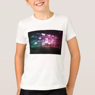 Technology Infrastructure as a IT Abstract Art Tees