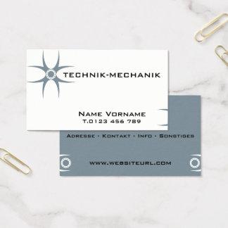 technology mechanics business card