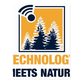 Technology Meets Nature Postcard