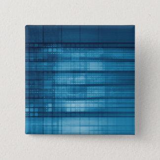 Technology Mosaic Background as a Tech Concept Art 15 Cm Square Badge