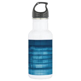 Technology Mosaic Background as a Tech Concept Art 532 Ml Water Bottle