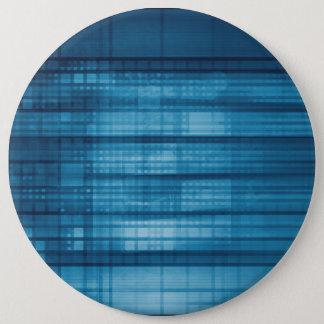 Technology Mosaic Background as a Tech Concept Art 6 Cm Round Badge