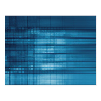 Technology Mosaic Background as a Tech Concept Art Postcard