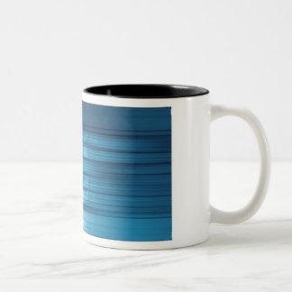 Technology Mosaic Background as a Tech Concept Art Two-Tone Coffee Mug