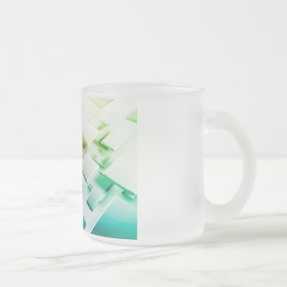 Technology Theme or Themed Background Frosted Glass Coffee Mug