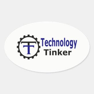 Technology Tinker Oval Sticker