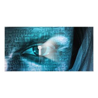 Techology Eye Photo Card Template