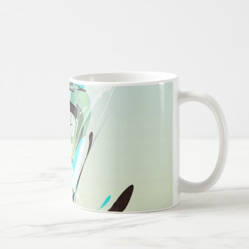 techy energy beams coffee mug
