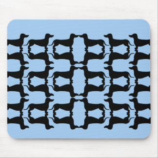 Teckel black and blue mouse pad