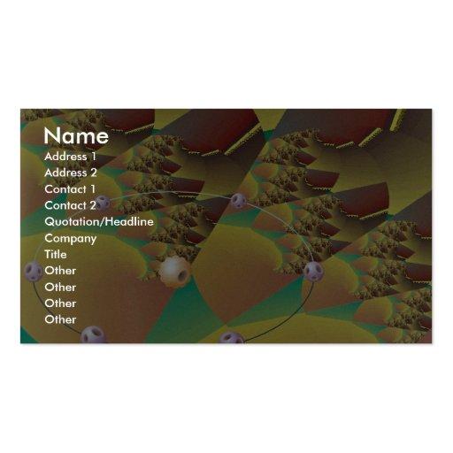 Tectonic movement Orbit Business Card