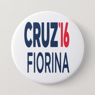 Ted Cruz Carly Fiorina 2016 Round Button