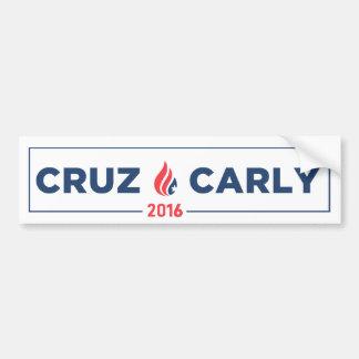 Ted Cruz Carly Fiorina Bumper Sticker White