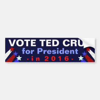 Ted Cruz President 2016 Election Republican Bumper Sticker