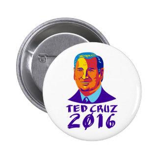Ted Cruz President 2016 Retro 6 Cm Round Badge