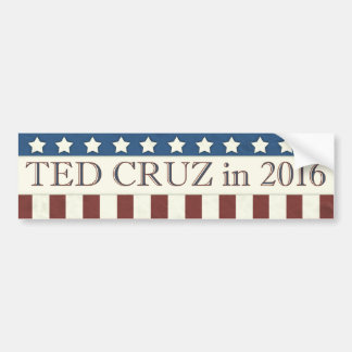 Ted Cruz President 2016 Stars Stripes Bumper Sticker