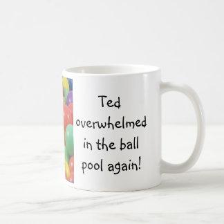 Ted in the ball pool ... English tea mug