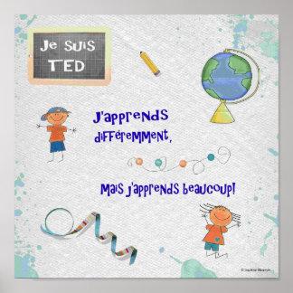 TED j'apprends différemment Poster