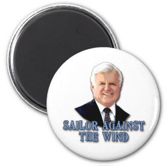 Ted Kennedy Sailor Against the Wind 6 Cm Round Magnet