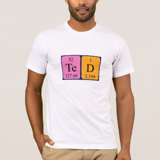 Ted periodic table name shirt