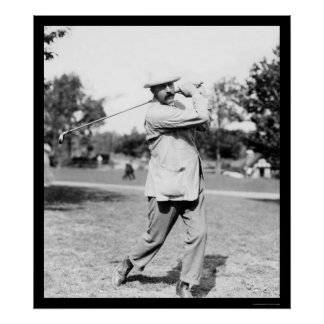 Ted Ray Golf Champion 1914 Poster
