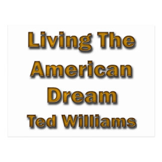 Ted Williams Living The American Dream Postcard