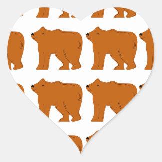 Teddies designs on white heart sticker