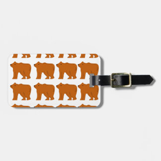Teddies designs on white luggage tag
