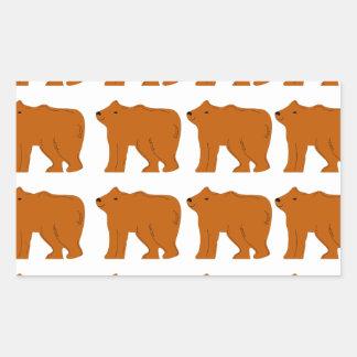 Teddies designs on white rectangular sticker
