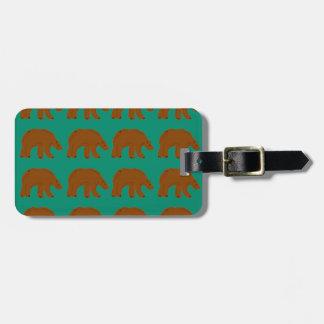 Teddies on Mint edition Luggage Tag