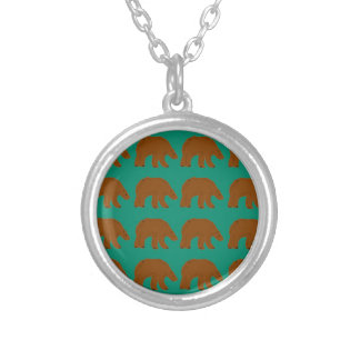 Teddies on Mint edition Silver Plated Necklace