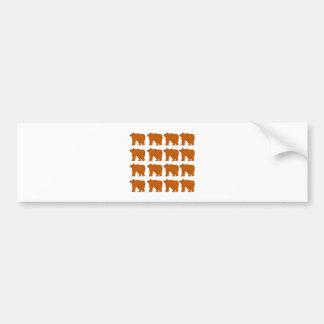Teddies on white bumper sticker
