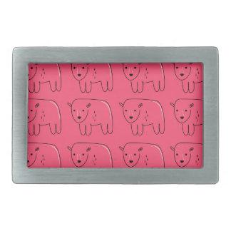Teddies painted Pink sweet Design Belt Buckle