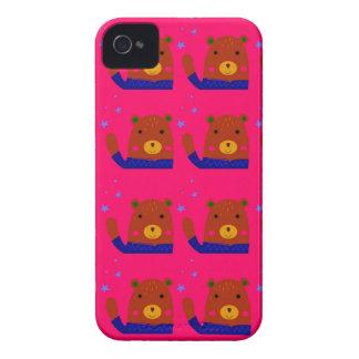 Teddies pink design iPhone 4 Case-Mate case