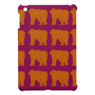 Teddies polar on pink case for the iPad mini