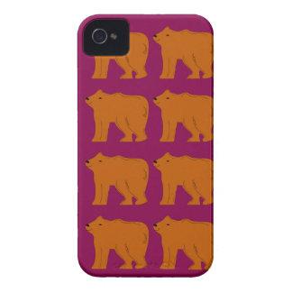 Teddies polar on pink Case-Mate iPhone 4 case