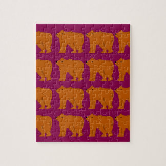 Teddies polar on pink jigsaw puzzle
