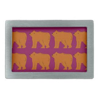 Teddies polar on pink rectangular belt buckle