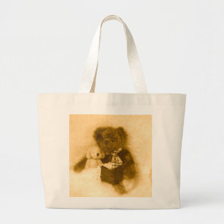 Teddy and Puppy Large Tote Bag