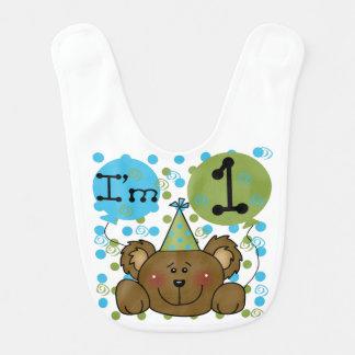 Teddy Bear 1st Birthday Bib