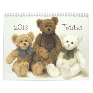 Teddy bear 2013 calendar