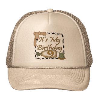 Teddy Bear 9th Birthday Gifts Cap